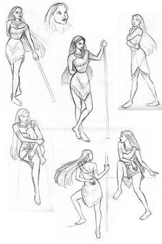 drawing pocahontas - Google Search