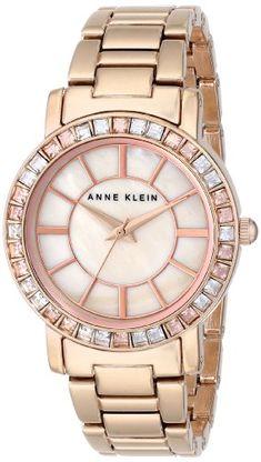 d10609a5063 Anne Klein Women's AK/1670PMRG Swarovski Crystal Accented Rose Gold-Tone  Bracelet Watch Anne