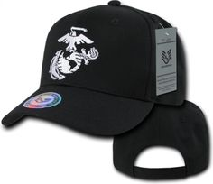 RapDom Marines Logo Back To The Basics Mens Cap [Black - Adjustable]