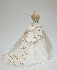 Our miniature wedding dress replica for Susan Ruddick. Photograph by Richard Wilding.