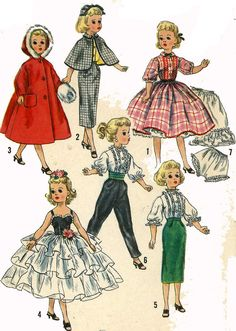 Vintage Doll Clothes PATTERN 2293 for 14 in Sweet by BlondiesSpot, $9.99