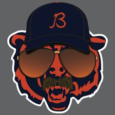 Growling Chicago Bear Morphs With Mike Ditka To Humanize The Emblem With Shades, A Hat, And A Classic Mustache Chicago Bears Funny, Chicago Bears Man Cave, Chicago Bears Pictures, Chicago Bears Shirts, Chicago Bulls, Chicago Chicago, Chicago Bears Wallpaper, Bear Wallpaper, Bears Football