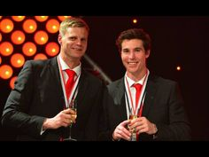 Nick Riewoldt and Lenny Hayes. Best and Fairest 2014 and runner up.