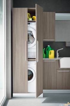 Vertical Laundry Room Is The Ultimate Space-Saver For Your Home – Virily Laundry Room Storage, Laundry Room Design, Cupboard Storage, Laundry In Bathroom, Laundry Rooms, Shiplap Bathroom, Bathroom Closet, Storage Rack, Bathroom Organization