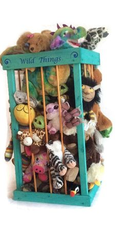 "38"" , Stuffed animal zoo stuffed animal storage, stuffed animal cage, stuffed animal hammock, stuffed animal net alt. Zoo Cage, Toy Storage by TravelingElephants on Etsy https://www.etsy.com/listing/232771159/38-stuffed-animal-zoo-stuffed-animal"