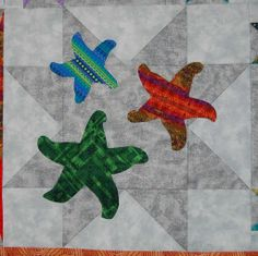 starfish quilt | Dancing with the Star (Fish) by SusanQuilt... | Quilting Ideas