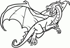 How to Draw a Flying Dragon, Dragon in Flight, Step by Step, Dragons, Draw a Dragon, Fantasy, FREE Online Drawing Tutorial, Added by Dawn, June 5, 2012, 3:29:26 pm