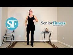 Senior Fitness - Low Impact Cardio Workout - YouTube Home Workout Videos, Best At Home Workout, At Home Workouts, Low Impact Cardio Workout, Easy Workouts, Hiit Class, Body Coach, Plus Size Workout, Resistance Workout