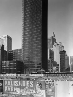 "joeinct: ""Seagram Building, Mies van der Rohe with Philip Johnson, NYC, Photo by Ezra Stoller, 1958 "" Eero Saarinen, Frank Lloyd Wright, Seagram Building, Hirshhorn Museum, Philip Johnson, Miller Homes, Walter Gropius, Long Island City, New York Street"