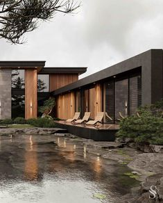 Home Room Design, Dream Home Design, Modern House Design, Dream House Interior, Luxury Homes Dream Houses, Modern Architecture House, Architecture Design, Modern Tropical House, Casas The Sims 4