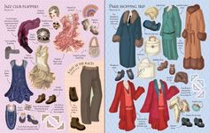1920s Fashion (Historical Sticker Dolly Dressing) (Usborne Sticker Dolly Dressing)