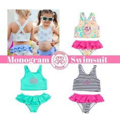 294e26af8fd Monogram Swimsuit / Monogrammed Toddler Swimsuit/ Monogrammed Girls Bathing  Suit / Monogram Girls Swimsuit/ Monogram Bathing Suit