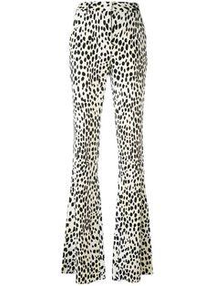 ROBERTO CAVALLI Flared Leopard Print Trousers. #robertocavalli #cloth #trousers
