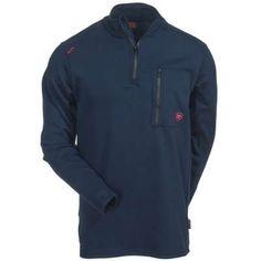 Ariat Shirts: 10012259 Quarter Zip FR Men's Navy Shirt