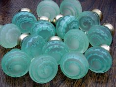 just plain wow.Artisan glass knobs - Merlin Glass - Turquoise, Aqua & sea glass blue Z