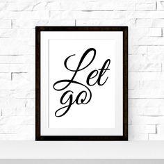 """Typografie-Poster """"Let go"""" Formate: A4 (210 x 297mm) und A3 (297 x 420mm)Papierqualität: 200g/m²..."""