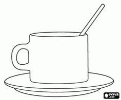 malvorlagen Tasse mit Untertasse und Löffel ausmalbilder