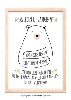 Bear Art print poster gift deco picture family home mural Cute Text, Funny Baby Photography, Funny Baby Pictures, Origami Box, Diy Presents, Love Illustration, Bear Art, Diy Frame, Funny Babies