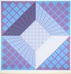 "Victor Vasarely (1908 - 1997) op art silkscreen pencil signed and numbered 102/250. 24""H x 24""W"
