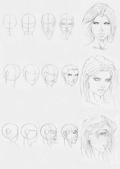 marvel style head drawing by ~ with thanks to Rofelrolf on deviantART Resources for Art Students / Art School Portfolio Work at CAPI ::: Create Art Portfolio Ideas at milliande.com , How to Draw Faces