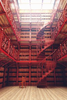 Library Painted Red by ForgottenWorld | Architecture | 3D | CGSociety