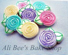 Ali Bee's Bake Shop- Easy Rose cookies