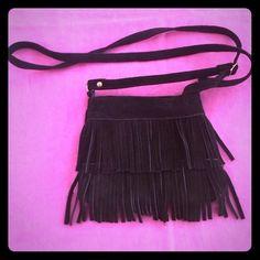 Black Leather Fringe Crossbody Black Leather Fringe Crossbody Bags Crossbody Bags