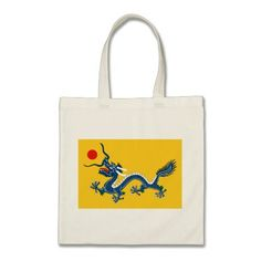 Flag of Imperial China Budget Tote Bag
