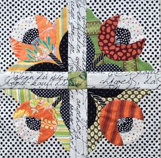 The Tuesday Flowers ---Many patterns that could be used in my vintage quilt