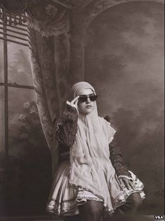 From the series 'Qajar', Gelatin silver bromide print, 30 x 24 cm. by Shadi Ghadirian © V Art Fund Collection of Middle Eastern Photography at the V and the British Museum Middle Eastern Art, The Middle, Art Fund, Iranian Women, Photography Exhibition, The V&a, Contemporary Photography, Contemporary Art, Female Photographers