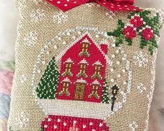 Natale Pan di zenzero di Kringle Cross Stitch Pattern digitale
