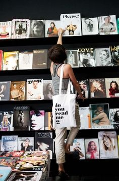 Do you read me - Berlin - Most striking feature: Their collection of fabulous magazines. I can spend hours here browsing through all the magazines and books they sell. The way they present everything is an extra point. Beautiful. I bought myself the newest issue of Monocle and...