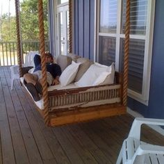 Looks like a great place for a afternoon nap! Hanging day bed made from antique shutters - eclectic - day beds and chaises - other metro - Charles Phillips Antiques and Architecturals