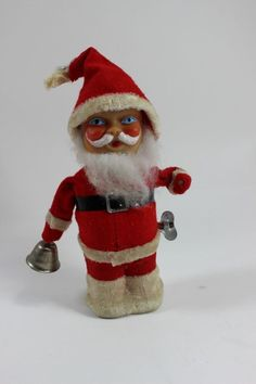 VINTAGE 1950s WIND UP Mechanical Santa Claus  #Unknown