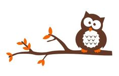 Owl Perched on Tree Branch Vinyl Wall Decal by BlueCoutureDesign