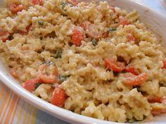 pasta al forno con crema di melanzane, pomodorini e... amore   (baked pasta with cream of eggplant, tomatoes e. .. love)
