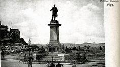 Estatua de Elduayen en su primera ubicación (inaugurada en 1896). A la izquierda la subida a la Piedra.