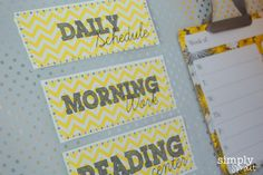 Bring some sunshine into your classroom with our Sunny Days Classroom printable kit! ~ Simply Sprout
