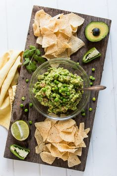 Green Pea Guacamole | The Nut-Free Vegan