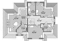 Projekt domu Syriusz 188,4 m2 | extradom