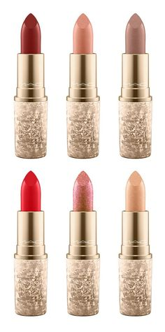 MAC Snow Ball Lipsticks 2017: Warm Ice, I'm Glistening, Holiday Crush, Shimmer & Spice, Rouge En Snow and Elle Belle (Holiday Collection 2017)