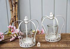 Floristikdeko - Krone Windlicht - ein Designerstück von CraftsandDeco bei DaWanda