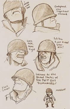 Faces of Soldier by tsunamisilvers.deviantart.com on @DeviantArt