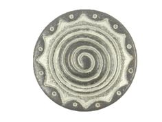 Domed Center Swirl Metal Shank Buttons in Gunmetal White Color - 23mm - 7/8 inch