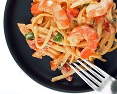 Shrimp pasta with creamy Chipotle sauce