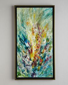 """Gladiolus"" Jinlu Oil Painting by John-Richard Collection at Neiman Marcus."