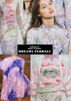 Spring 2015 Print Stories | Dreamy Florals