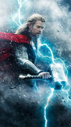 Chris Hemsworth: First 'Thor: the Dark World' Poster Revealed!: Photo Check out Chris Hemsworth in the first official poster for his upcoming highly anticipated flick Thor: The Dark World, sequel to Thor. Chris Hemsworth Thor, Films Récents, Films Cinema, Wallpaper Thor, Live Wallpaper For Pc, Hd Wallpaper Desktop, Wallpapers Android, Marvel Universe, X Men Film
