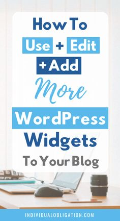 Learn how to use WordPress widgets to improve your blog + website with this WordPress tips for beginners tutorial guide. Learn everything you need to know about WordPress widgets from how to use, edit and add them to your WordPress blog theme + design. Plus the benefits of using them when starting a blog. Click here to find out how they can benefit your new blog #WordPressTips #HowToBlog #Blogging #BlogTips #WordPressWidgets #BloggingForBeginners | wordpress 101 | blogging tips and tricks |