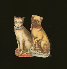 LAVINE Soap Victorian Trade Card Pair  Cat and by TheOldBarnDoor